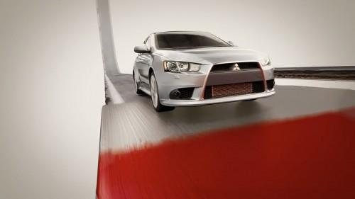 mitsubshi lancer AWD promo ad